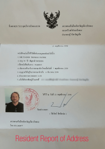 resident-report-of-adress-driving-license-in-thailand